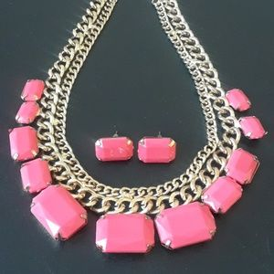 Jewelry - 50% OFF CUTE Coral Necklace and Earring set